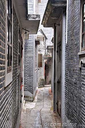 Aged architecture in country of southern china