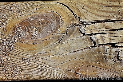 Aged beach wood texture macro detail with sand