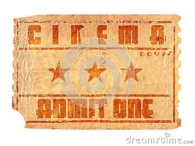 cinema ticket face
