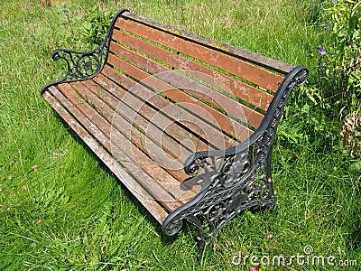 Aged Garden Bench