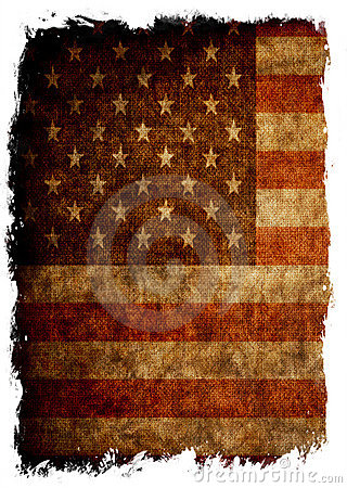 Aged grunge flag of USA