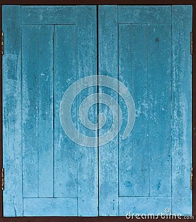 Free Aged Grunge Weathered Blue Window Wood Stock Photo - 40964750
