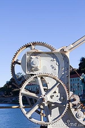 Aged Iron crane