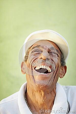 Free Aged Latino Man Smiling For Joy Stock Photography - 20114702