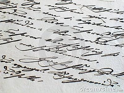 Aged letter (old script)