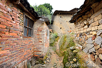 Aged local residence in countryside of South of China