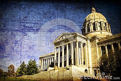 Aged Missouri State Capital
