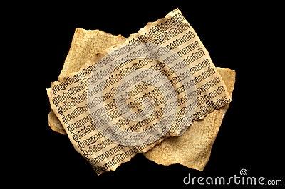 Aged music sheet