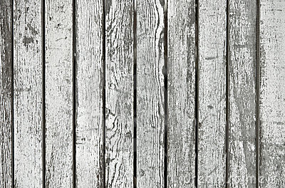 Aged painted wooden boards