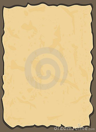 Aged paper in vector