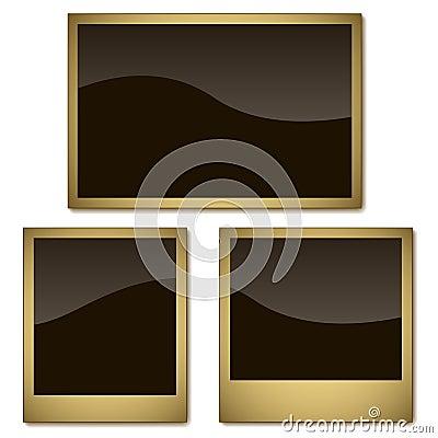 Aged photo frames