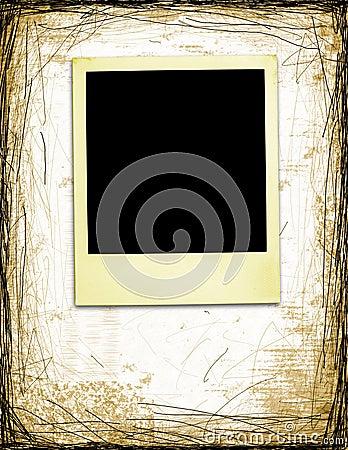 Aged Polaroid On Grunge Background