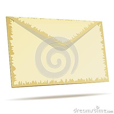 Aged postal envelope
