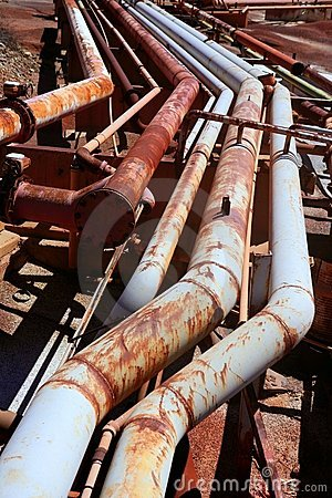 Free Aged Rusty Grunge Industrial Pipe Lines Stock Photography - 11477052