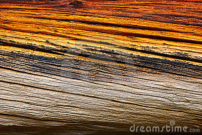 Aged tinted wood texture close up