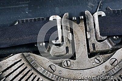 Aged typewriter