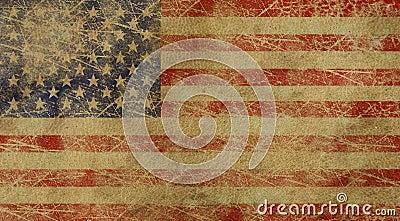 Aged USA American flag