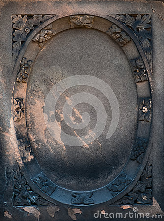 Victorian gravestone frame