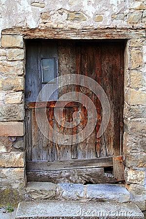 Aged wood doors weathered vintage