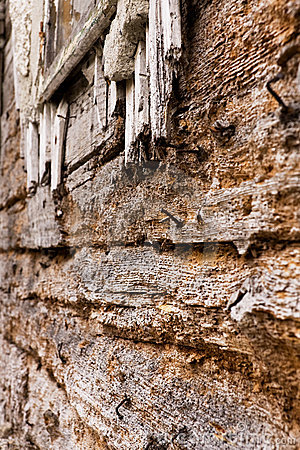 Free Aged Wooden Building Exterior Royalty Free Stock Photo - 5371085