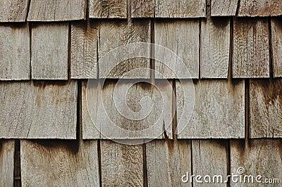 Aged Wooden Shingle Background
