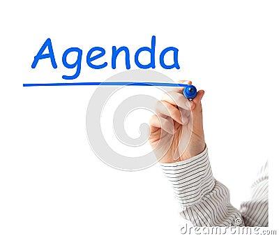 Agenda Stock Photo