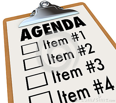 Free Agenda On Clipboard Plan For Meeting Or Project Stock Photo - 29536620