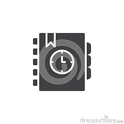 Free Agenda Vector Icon Stock Photo - 124667720