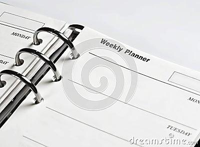 Agenda, weekly planner