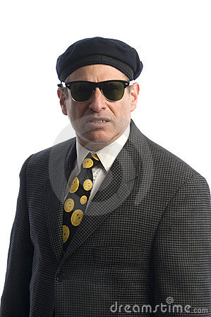 Free Agent In Sunglasses French Beret Royalty Free Stock Image - 8568196