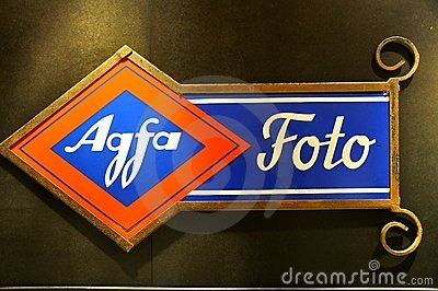 Agfa vintage ad Editorial Stock Photo