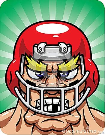 Aggresive Football Player