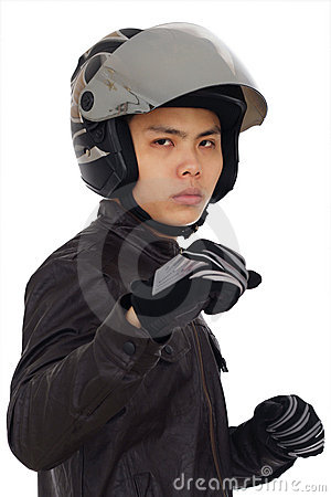 Aggressive biker