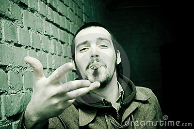 Aggressive Cigar Smoker
