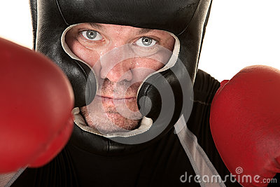 Aggressive Fighter Close Up