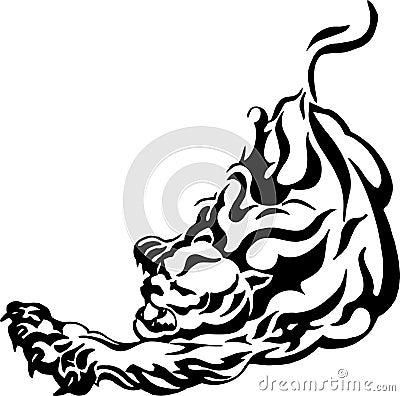 Aggressive panther - puma
