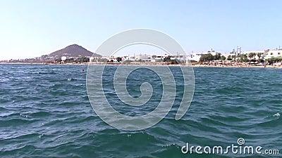 Agia安娜村庄看法在纳克索斯岛 影视素材