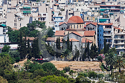 Agia Triada Orthodox Church Athens Greece Editorial Stock Photo