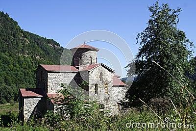 Aging church ՠage in mountain