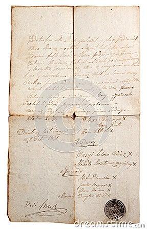 Aging manuscript