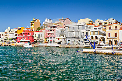 Agios Nikolaos city on Crete