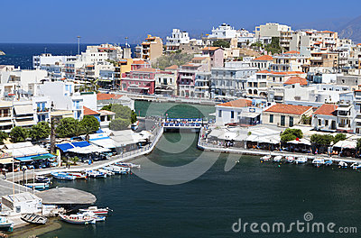 Agios Nikolaos city at Crete, Greece