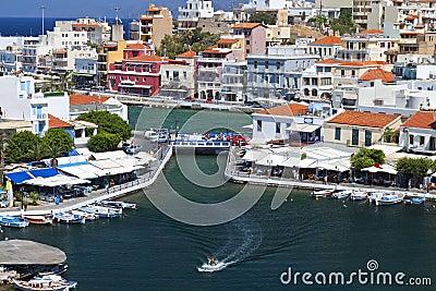 Agios Nikolaos city at Crete island, Greece