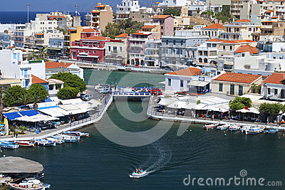 Agios Nikolaos city in Greece