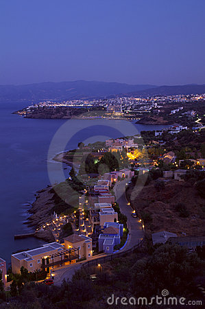 Agios Nikolaos at the evening.