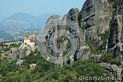 Agios Nikolaos rock monastery,Greece. Meteora