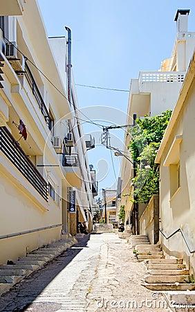 Agios Nikolaos street, Crete, Greece