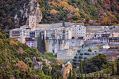 Agiou Pavlou Orthodox monastery at Mt Athos