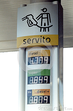 Agip gas station prices Editorial Photography