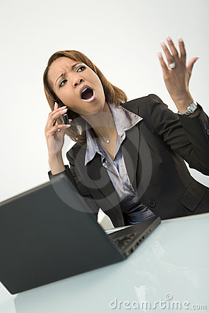 Agitated Businesswoman